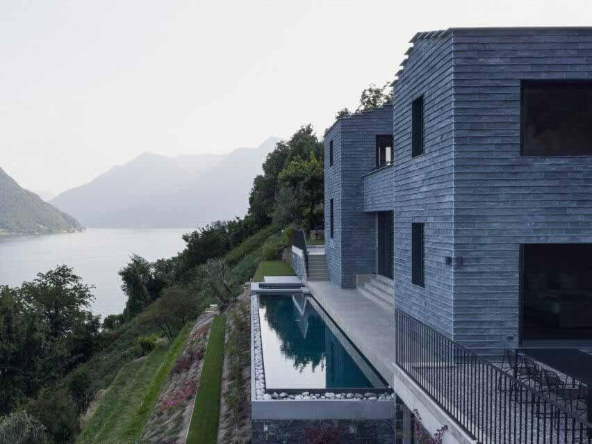 Лоренцо Гуццини строит дом с пейзажным бассейном с видом на озеро Комо