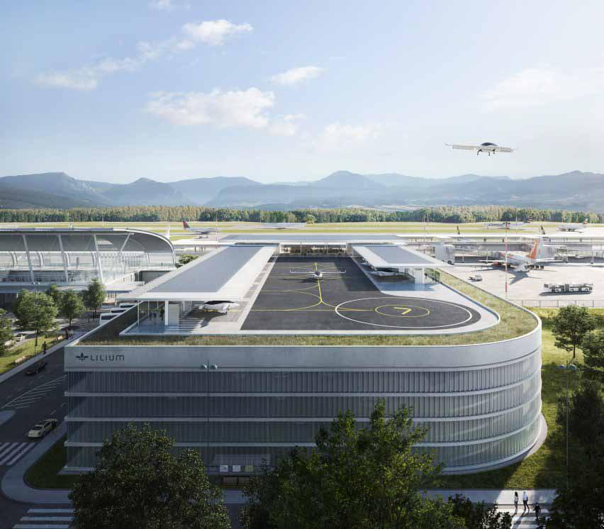 Стартап летающих такси Lilium раскрывает дизайн для городских вертипортов