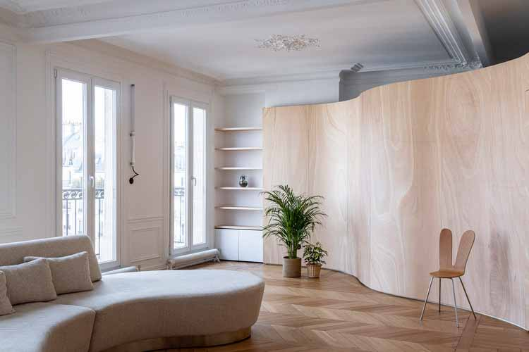 Апартаменты с деревянной лентой / Толедано + Архитекторы © Салем Мостефауи