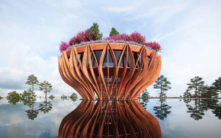 Башенный цветок. Изображение предоставлено VHA Architects