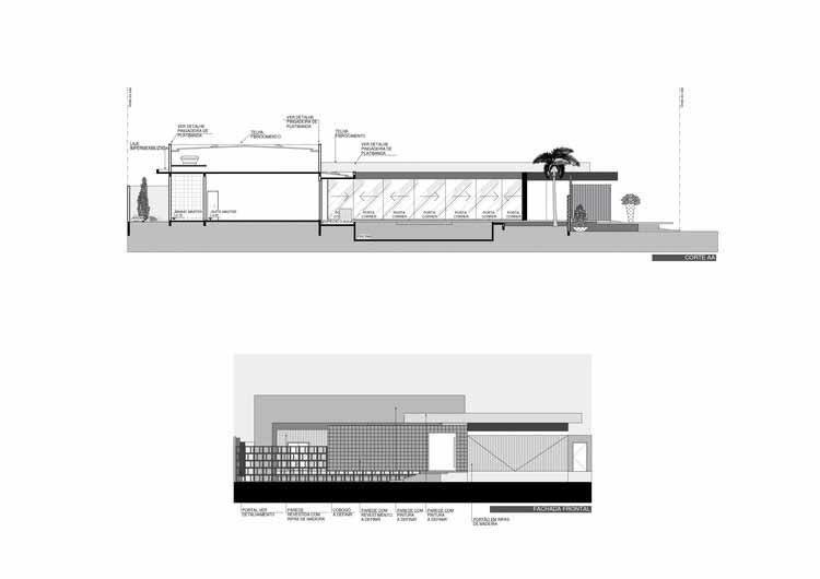 Раздел АА / Фронтальный фасад