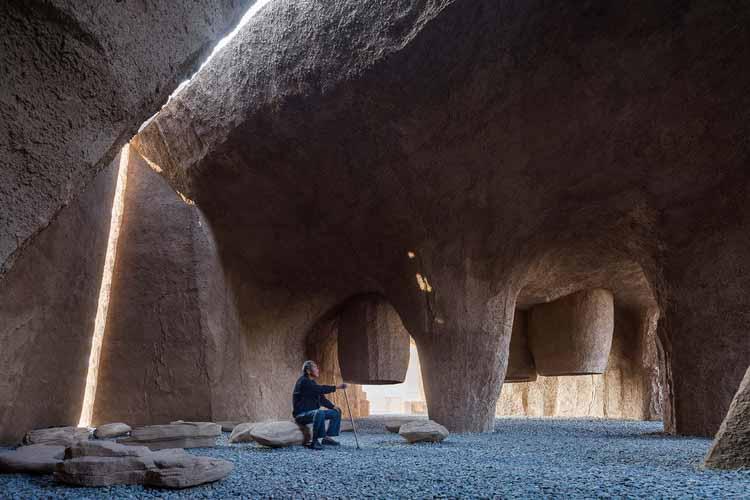 выставочный зал на вершине горы. Изображение © Тяньбэй Цзэн