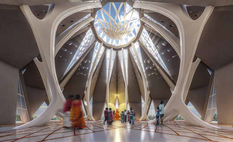 Новый параметрический храм в Индии для переосмысления народного дизайна в Коппуре, любезно предоставлено rat[LAB] Студия, Sreekanth Damodaran