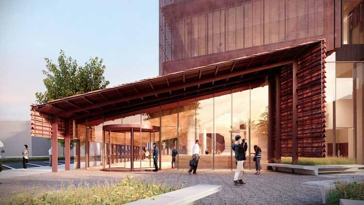 Суды Бендиго, созданные как знаковая достопримечательность Австралии, предоставлено John Wardle Architects