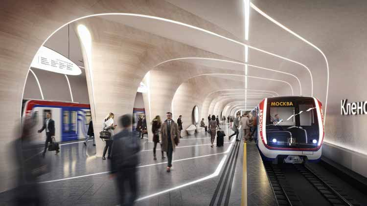 Станция «Кленовый бульвар, 2» - 1 место. Изображение предоставлено Zaha Hadid Architects