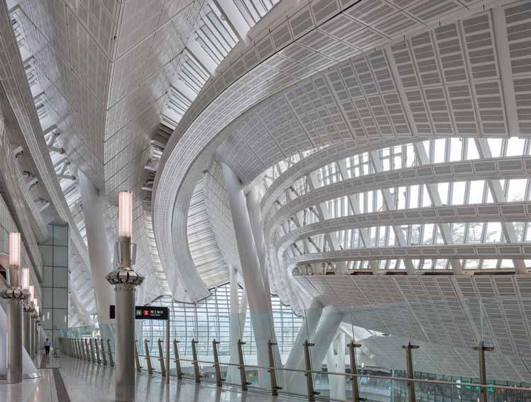 Станция Западный Коулун Гонконга / Эндрю Бромберг в Aedas. Изображение © Вирджил Бертран