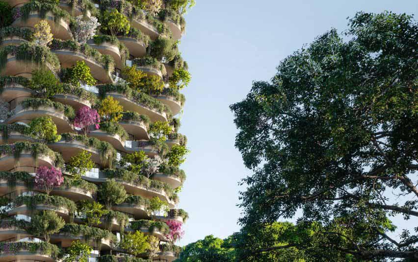 Многоэтажный жилой дом Urban Forest в Брисбене от Koichi Takada Architects