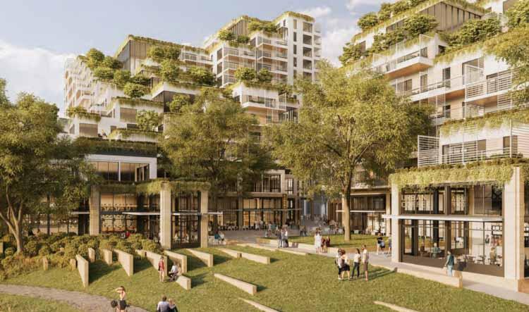 Проект смешанной набережной, призванный преобразить Западный Мельбурн, любезно предоставлен Foster and Partners, Fender Katsalidis и Oculus