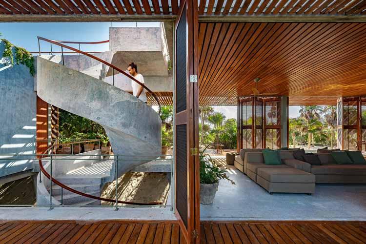 Лестница как ключевой элемент дизайна в 15 произведениях мексиканской архитектуры, Bautista House / PRODUCTORA. Изображение © Оннис Луке