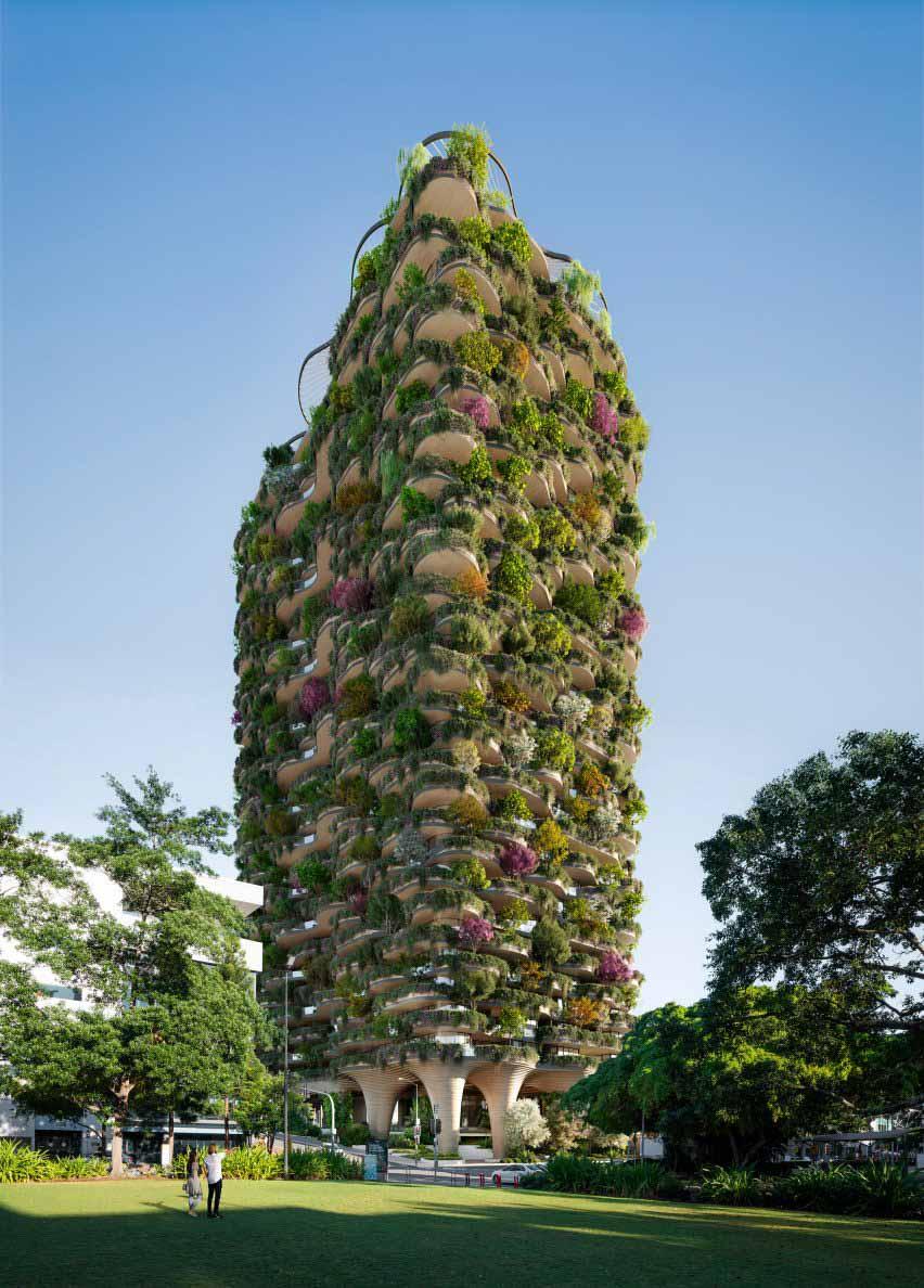 Urban Forest — это высотное здание, созданное Koichi Takada Architects