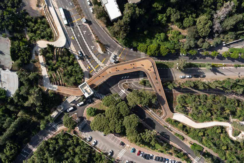 Вид с воздуха на вход в ворота Техниона от Schwartz Besnosoff Architects
