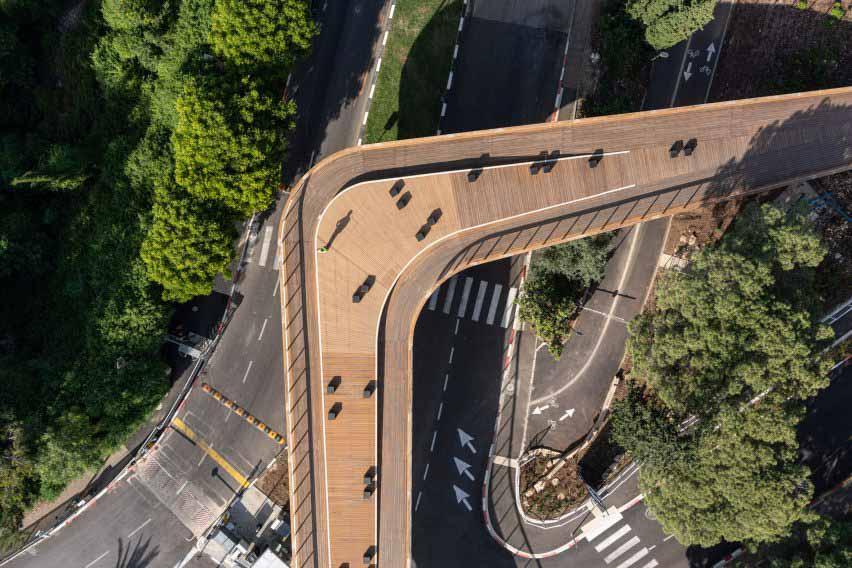 Вид на мост у входных ворот Техниона в плане