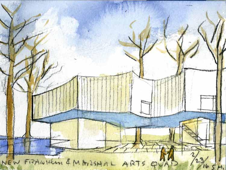Акварельный эскиз. Изображение предоставлено Steven Holl Architects