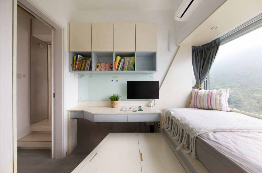 Спальня Smart Zendo от Sim-Plex Design Studio в Гонконге