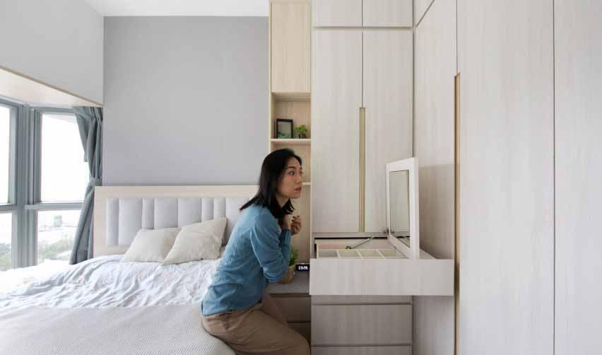 Спальня в Smart Zendo от Sim-Plex Design Studio в Гонконге