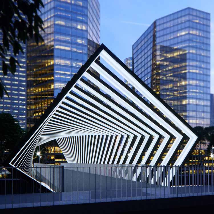 Solar Skywalks Энергетическая активация пешеходных мостов / Питер Кучия. Изображение предоставлено A 'Design Awards