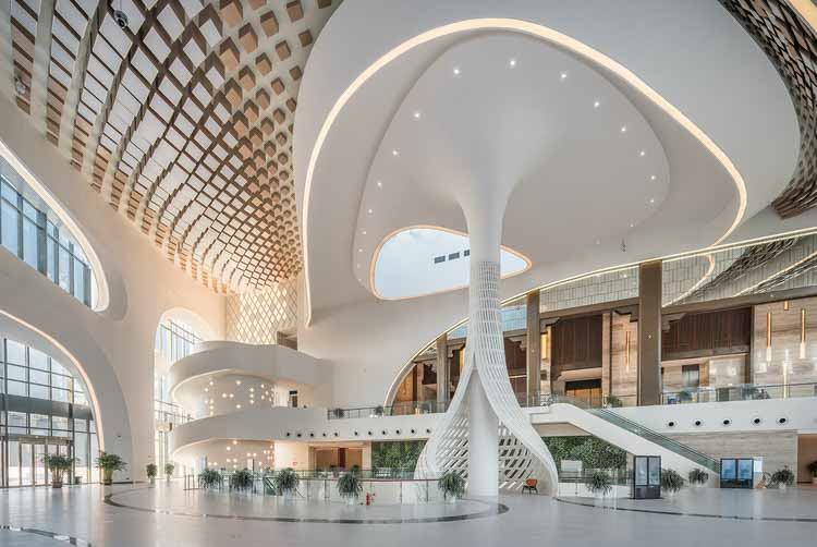 Конференц-центр Qingdao World Expo City Center / Tengyuan Design. Изображение предоставлено A 'Design Awards