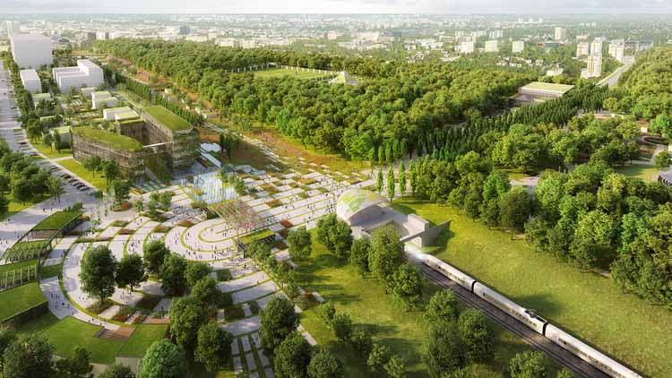 Чепмен Тейлор разрабатывает генеральный план Всемирной выставки садоводства в третьем по величине городе Польши, любезно предоставлено Чепменом Тейлором