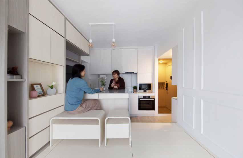 Кухня Smart Zendo от студии Sim-Plex Design в Гонконге