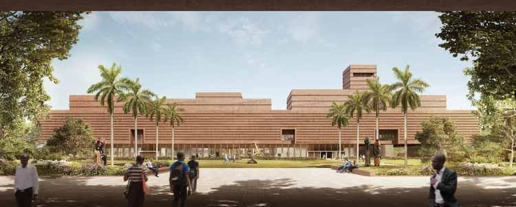 Adjaye Associates раскрывает предварительный дизайн музея западноафриканского искусства Эдо в Нигерии, любезно предоставлено Adjaye Associates