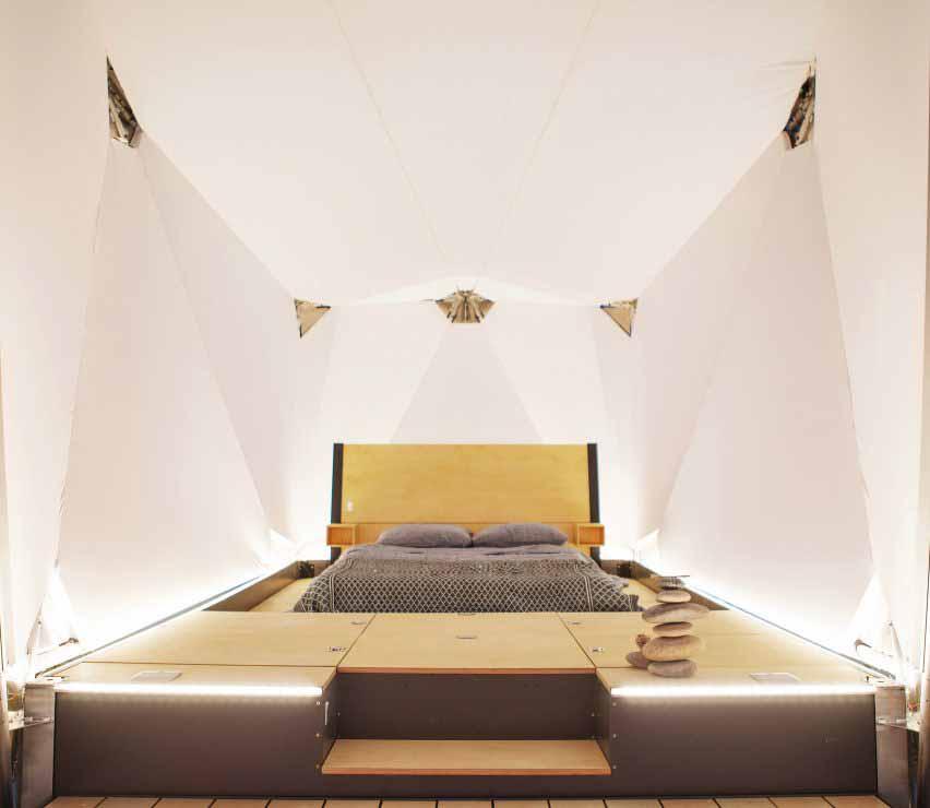 Кровать в сборном укрытии для кемпинга Юп