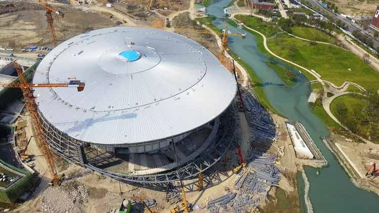 Парк Азиатских игр в Ханчжоу от Archi-Tectonics близится к завершению, любезно предоставлено Archi-Tectonics
