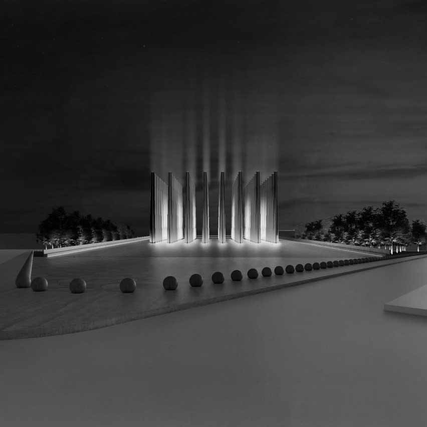 Изображение Мемориала мучеников в Нигере от Adjaye Associates