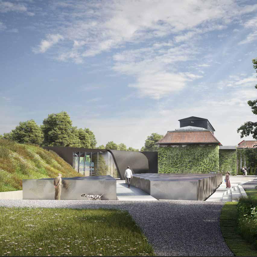 Изображение расширения Снёхетты для музея Ордрупгаард в Дании