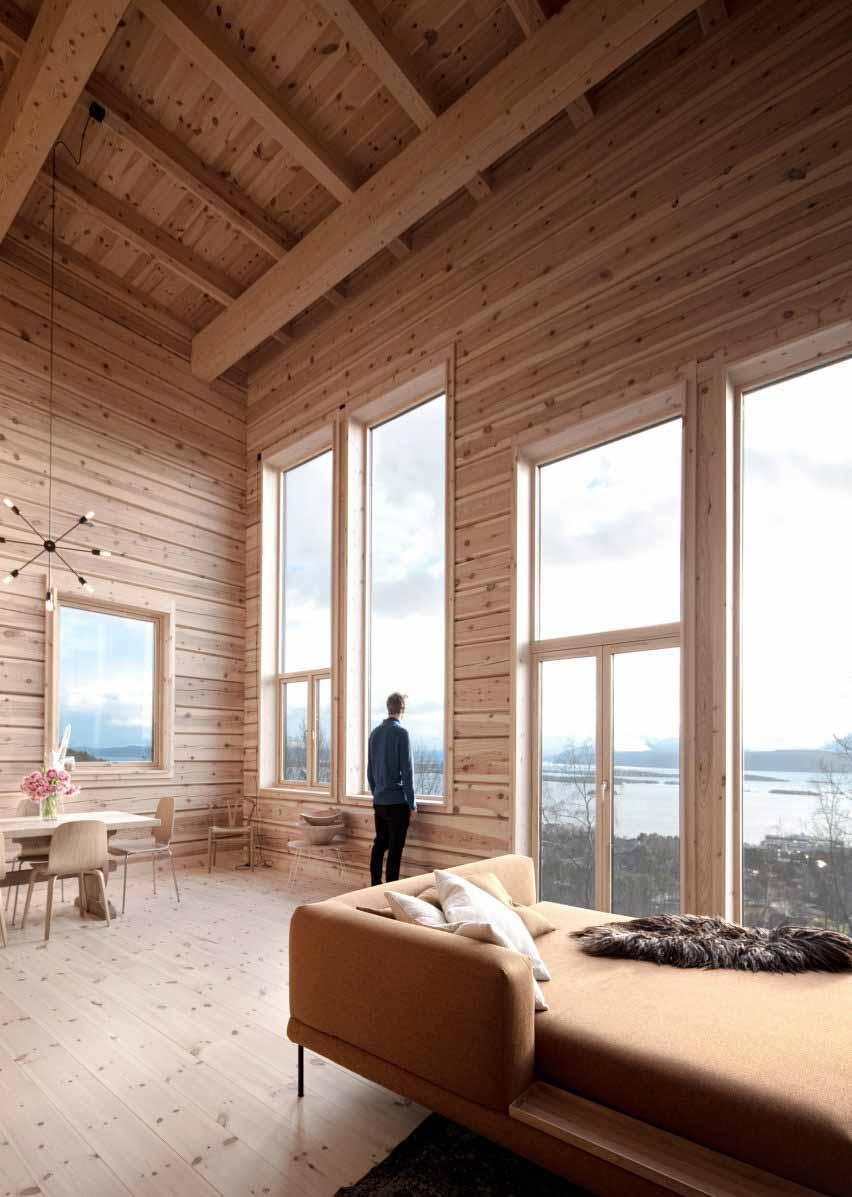 Гостиная с видом на фьорд