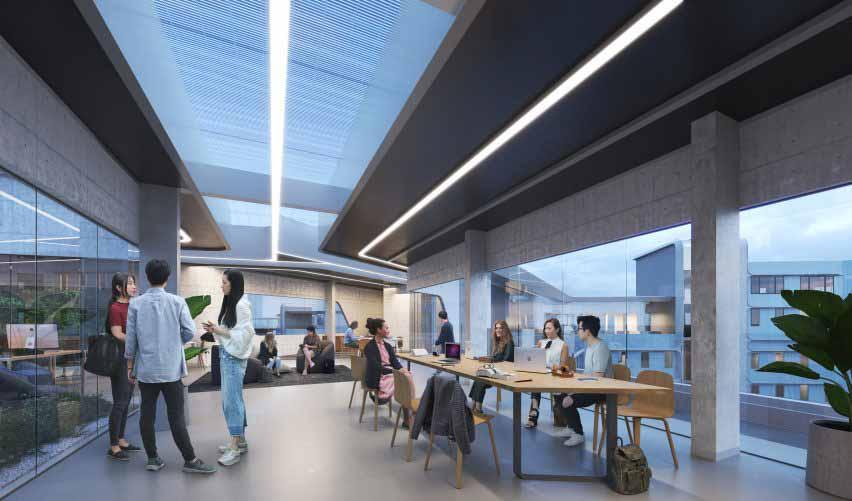 Совместное жилое пространство внутри студенческого общежития HKUST от Zaha Hadid Architects