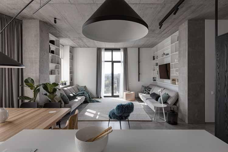 Deep Grey Apartment / Азовский + Пахомова, © Андрей Авдеенко
