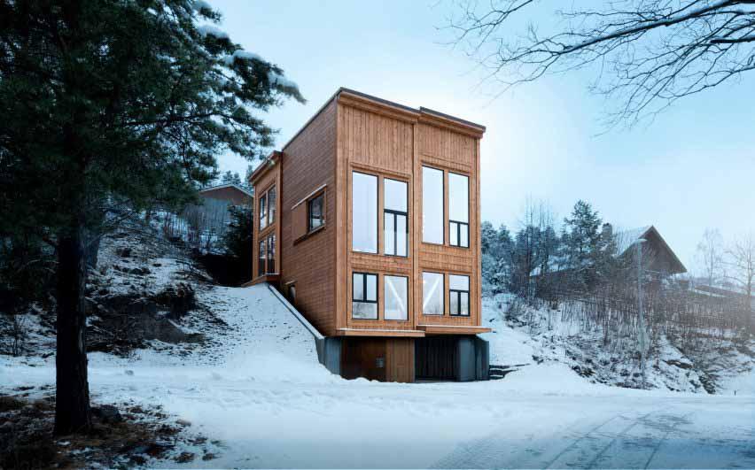 Rever & Drage Architects строит современный бревенчатый дом в Норвегии