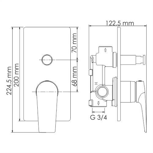 Смеситель WasserKRAFT Glan 6661