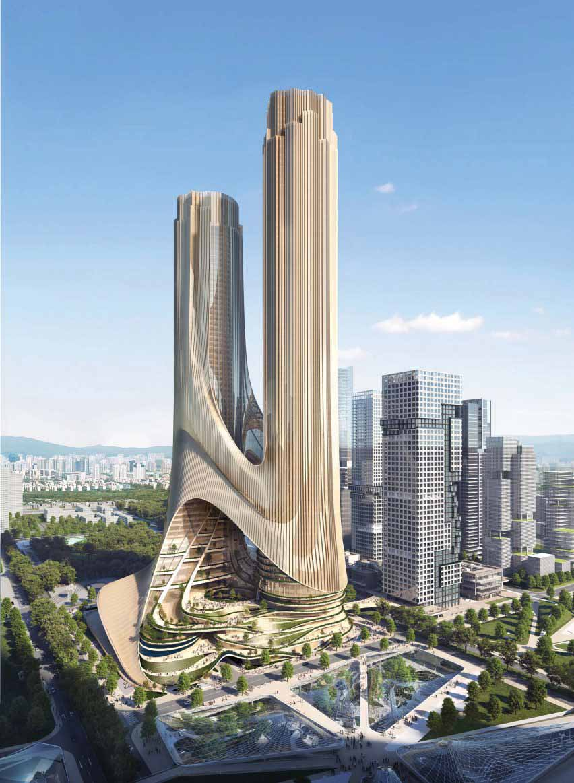 Zaha Hadid Architects представила сверхвысокий небоскреб Tower C для Шэньчжэня