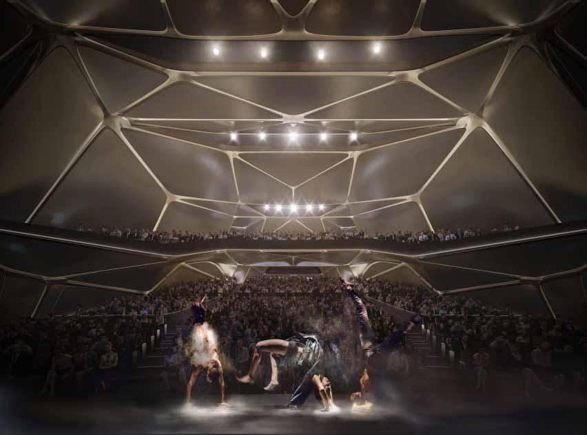 Многофункциональный зал Китайского культурного центра от Zaha Hadid Architects