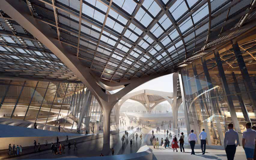 Площадь в центре китайского культурного центра от Zaha Hadid Architects.