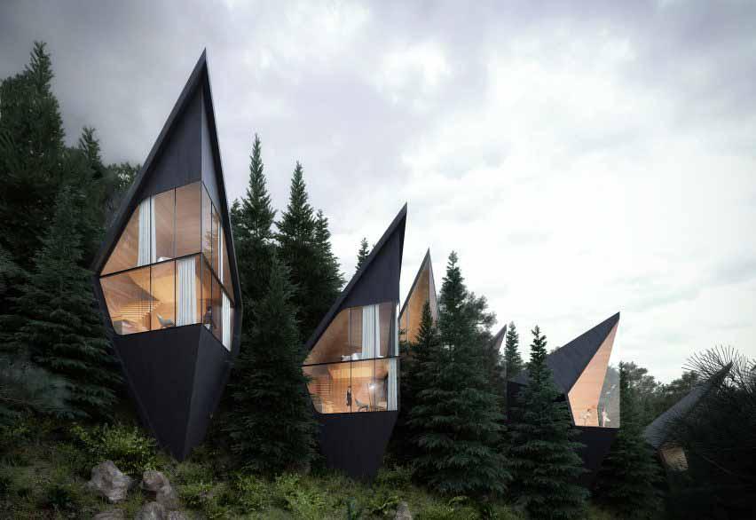 Высокий дизайн в пределах линии деревьев