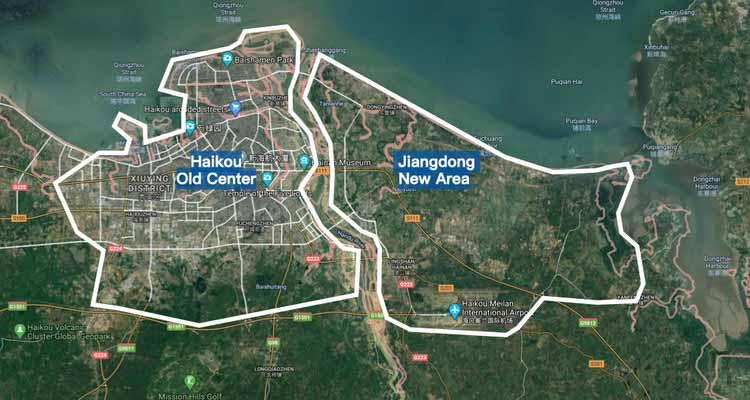 Карта города Хайкоу. Изображение предоставлено городом Хайкоу