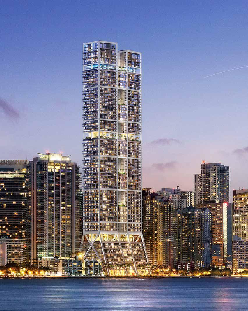 Башни, Майами, США, компания Foster + Partners.