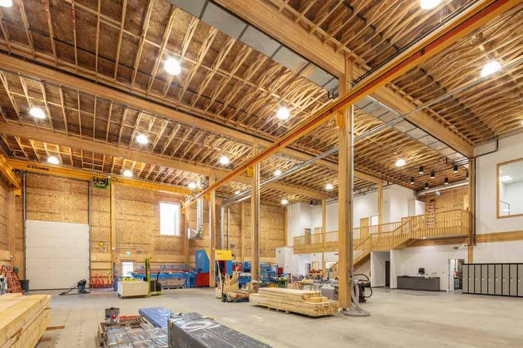 Лаборатория инноваций в древесине (WIRL) / Stantec. Изображение © Майкл Элкан. Предоставлено naturallywood.com