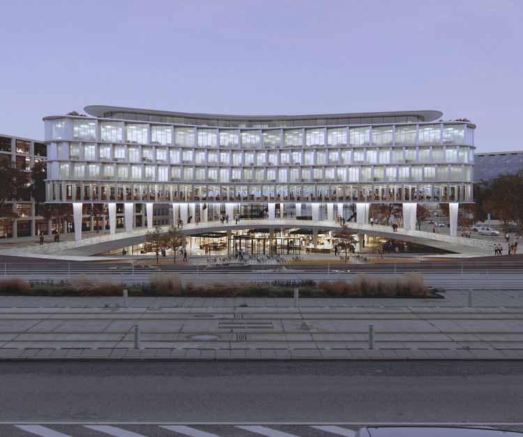 Дорте Мандруп выбран для создания петли, знаковых городских ворот в новейший городской район Орхуса, любезно предоставлено Дорте Мандруп