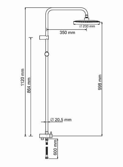 Душевая стойка WasserKRAFT A041