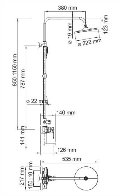 Душевая стойка WasserKRAFT A16601