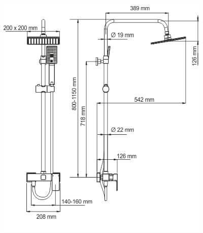 Душевая стойка WasserKRAFT A17702
