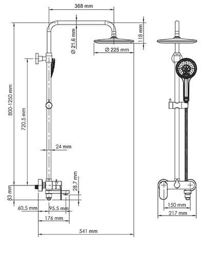 Душевая стойка WasserKRAFT A18501