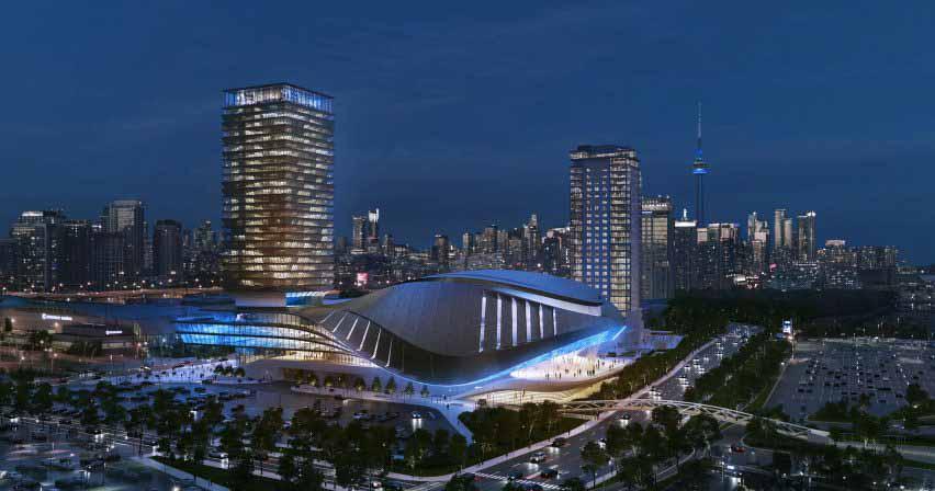 Многолюдный киберспортивный стадион на 7000 мест для Торонто