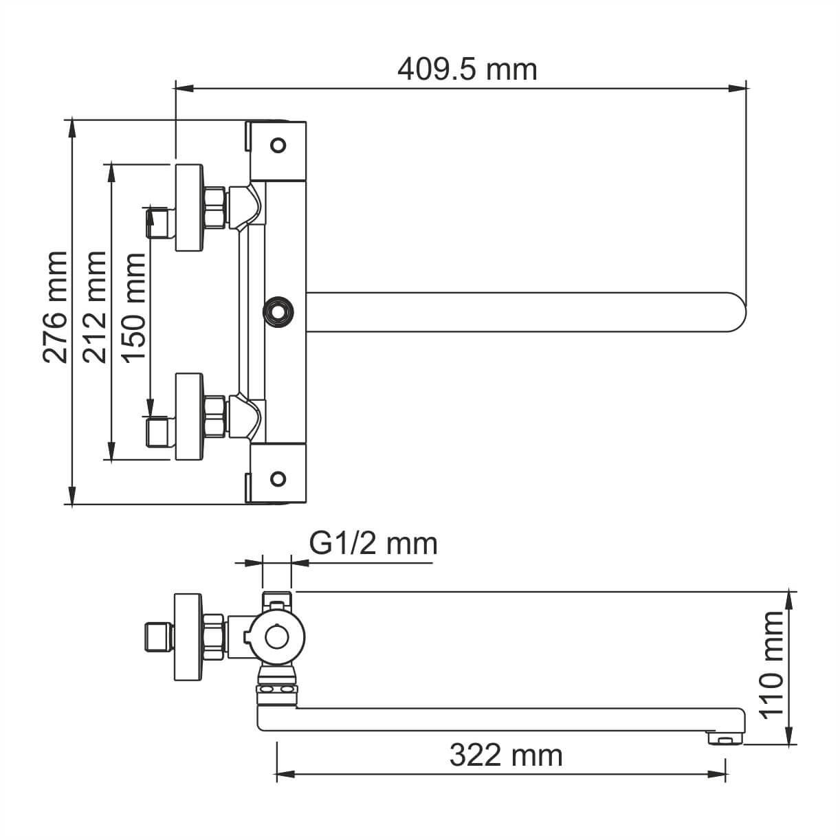 Смеситель WasserKRAFT Berkel 4822L Thermo