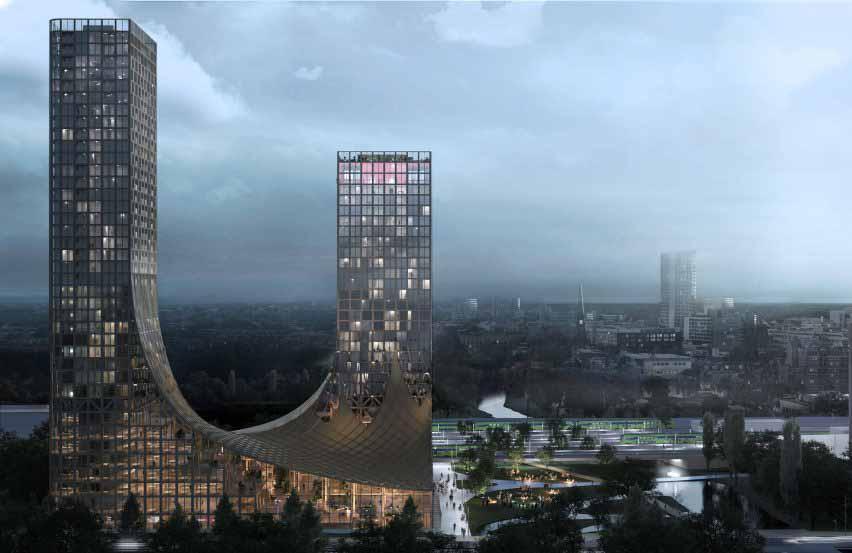 Студия Marco Vermeulen проектирует небоскребы из клееного бруса в Голландских горах