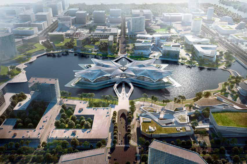 Zaha Hadid Architects открывает Центр гражданского искусства Чжухай Цзиньвань в Китае
