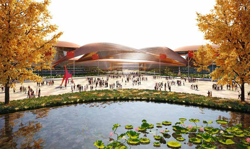 Zaha Hadid Architects расширят международный выставочный центр в Пекине